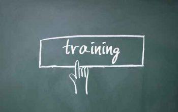 finger click training symbol on blackboard